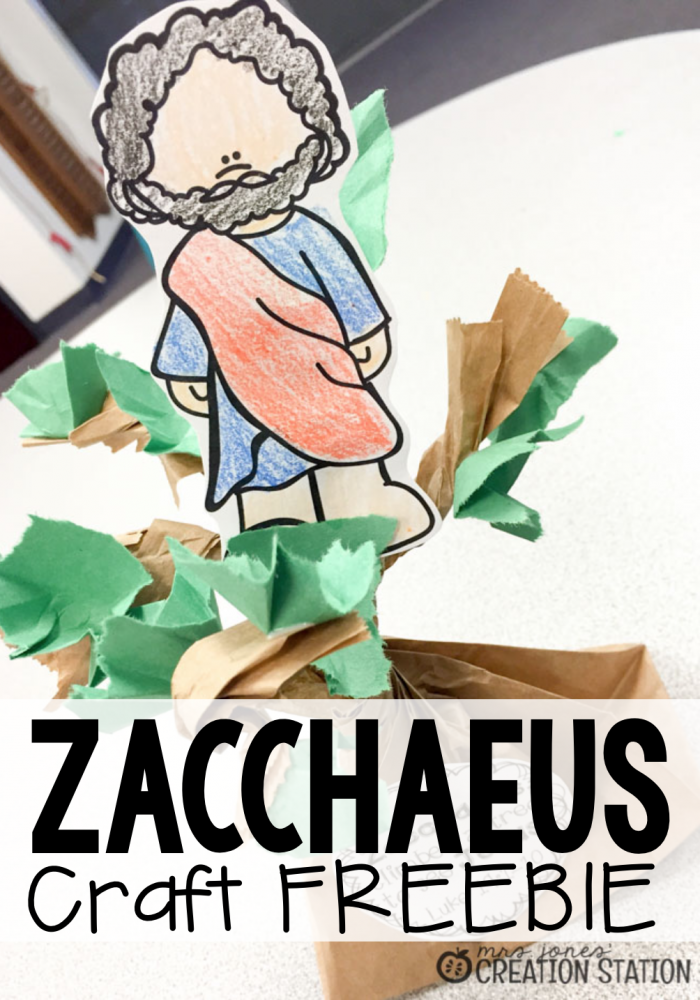 Zacchaeus Craft FREEBIE - MJCS