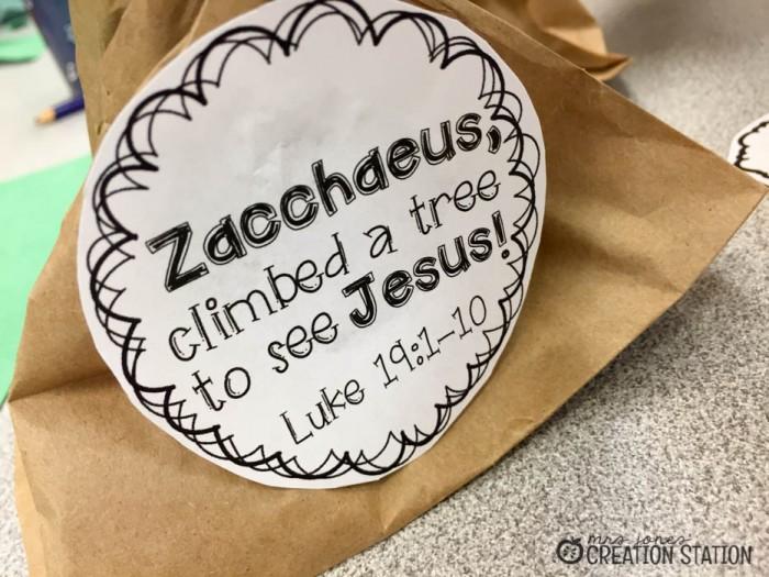 Zacchaeus Craft FREEBIE - MJCS