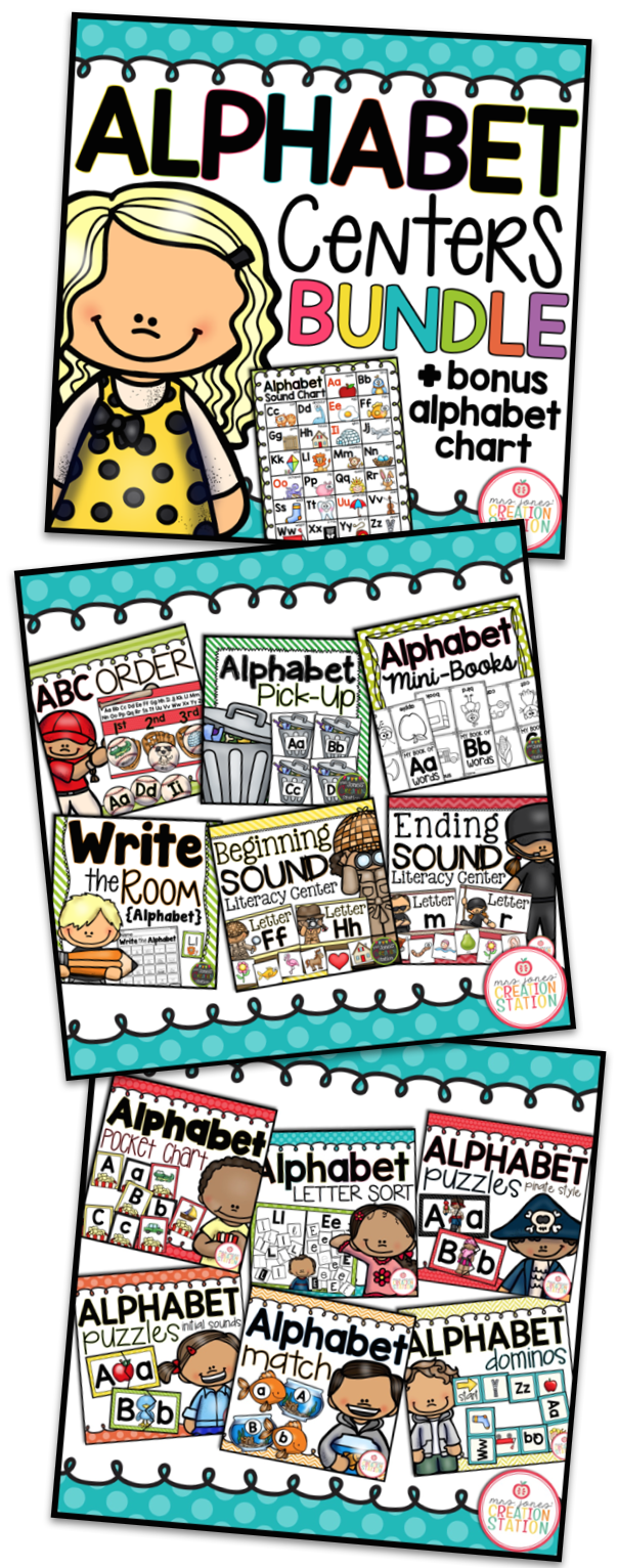 Alphabet Centers and Games Bundle - MJCS