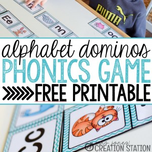 Alphabet Dominos Phonics Game - Mrs. Jones Creation Station