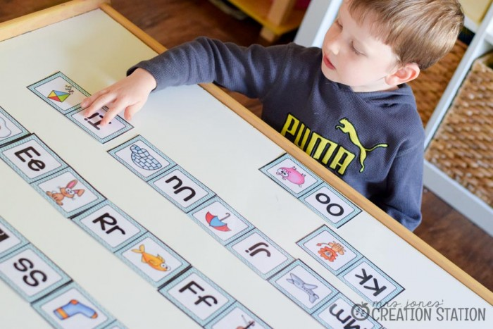 Beginning Sounds Phonics Game Alphabet Dominos - MJCS