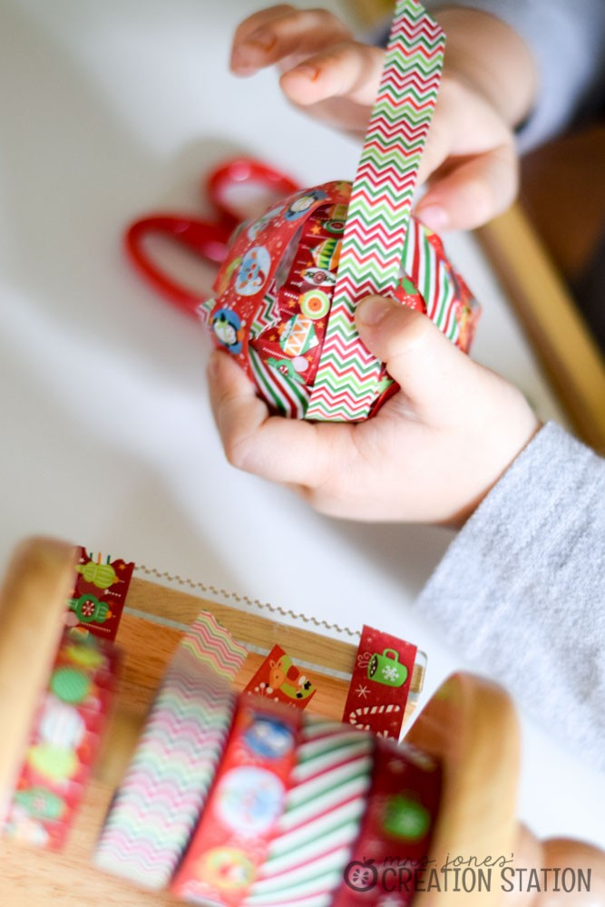 A Simple Christmas Craft - Washi-Tape Ornament - MJCS