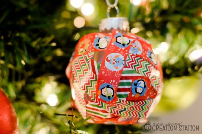Christmas Craft Washi-Tape Ornament9