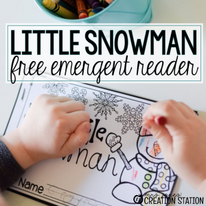 Little Snowman Emergent Reader Printable Book - Mrs. Jones' Creation Station