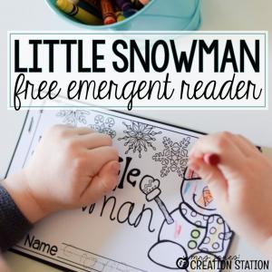 Little Snowman Emergent Reader Printable Book - Mrs. Jones' Creation Station