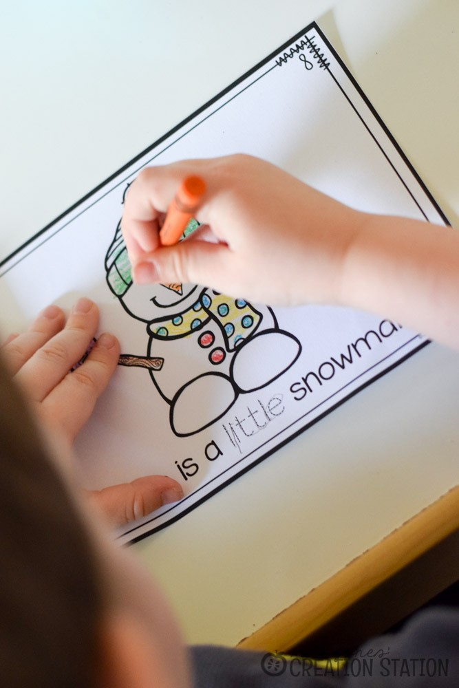 FREE Little Snowman Emergent Reader Printable Book - Mrs. Jones' Creation Station