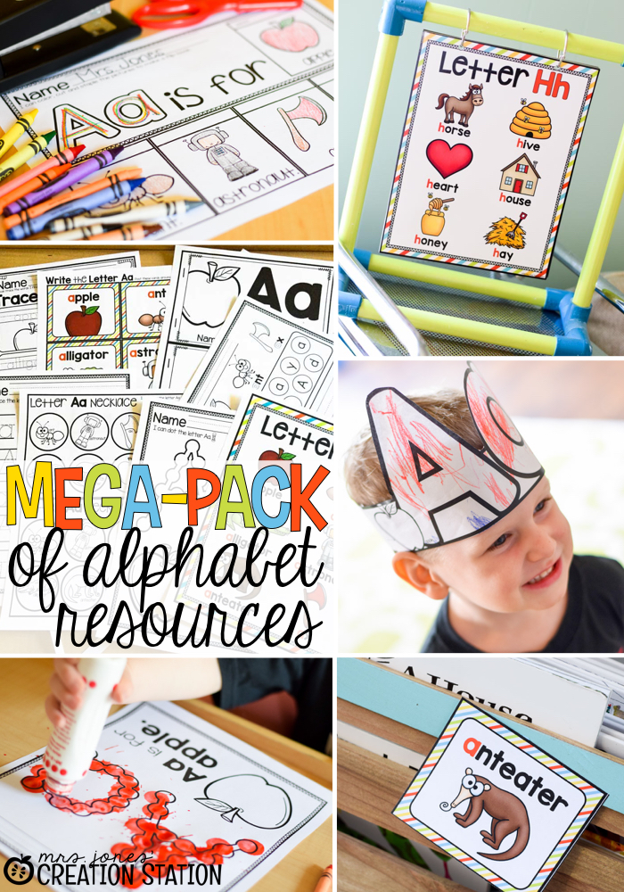 FREE Mini Alphabet Flipbook from Mrs. Jones' Creation Station for the Measured Mom