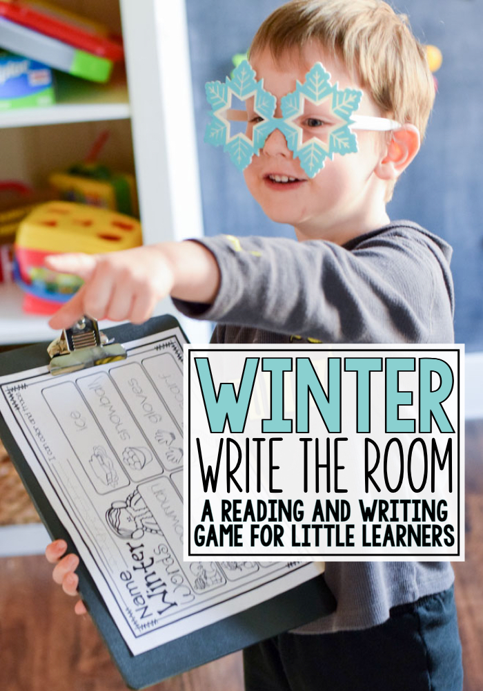 Winter Write the Room Writing and Reading Game - MJCS