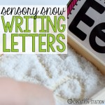 Writing Letters with Sensory Snow