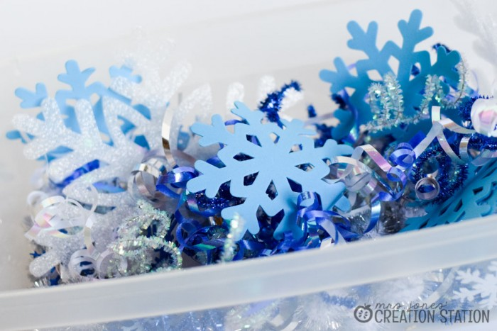 Snowflake Toddler Sensory Play - Mrs. Jones Creation Station