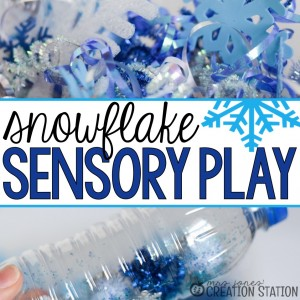 Snowflake Toddler Sensory Play