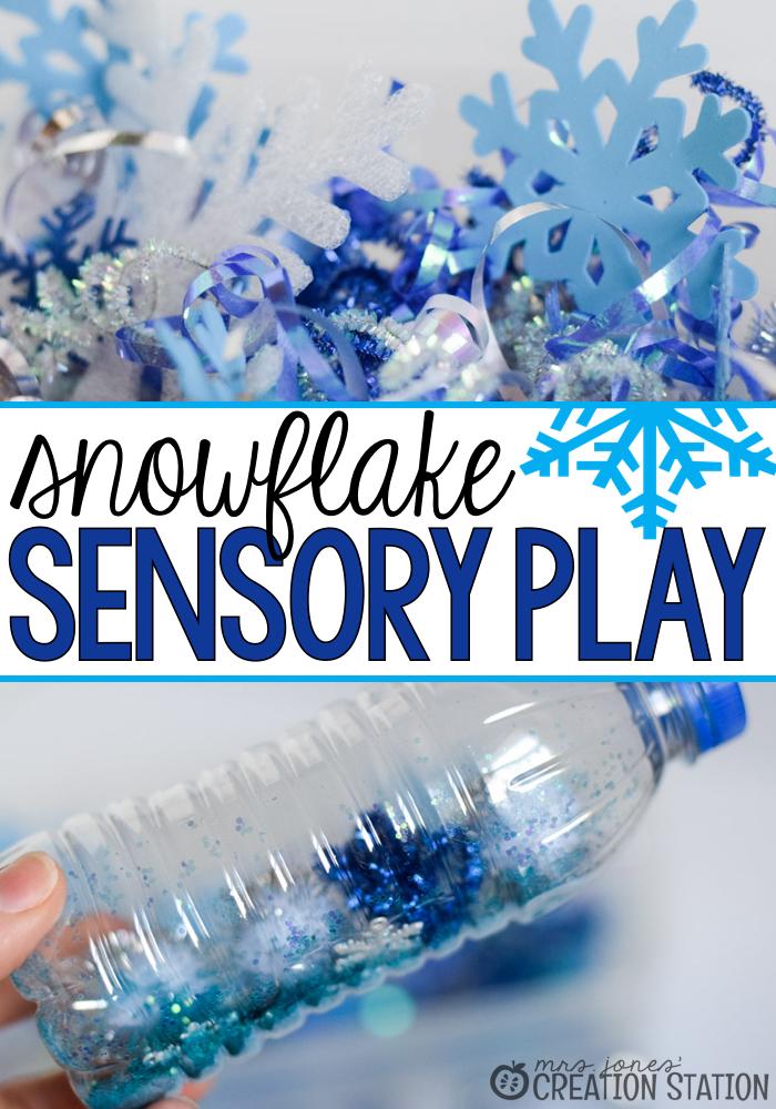Snowflake Toddler Sensory Play - Mrs. Jones Creation Station