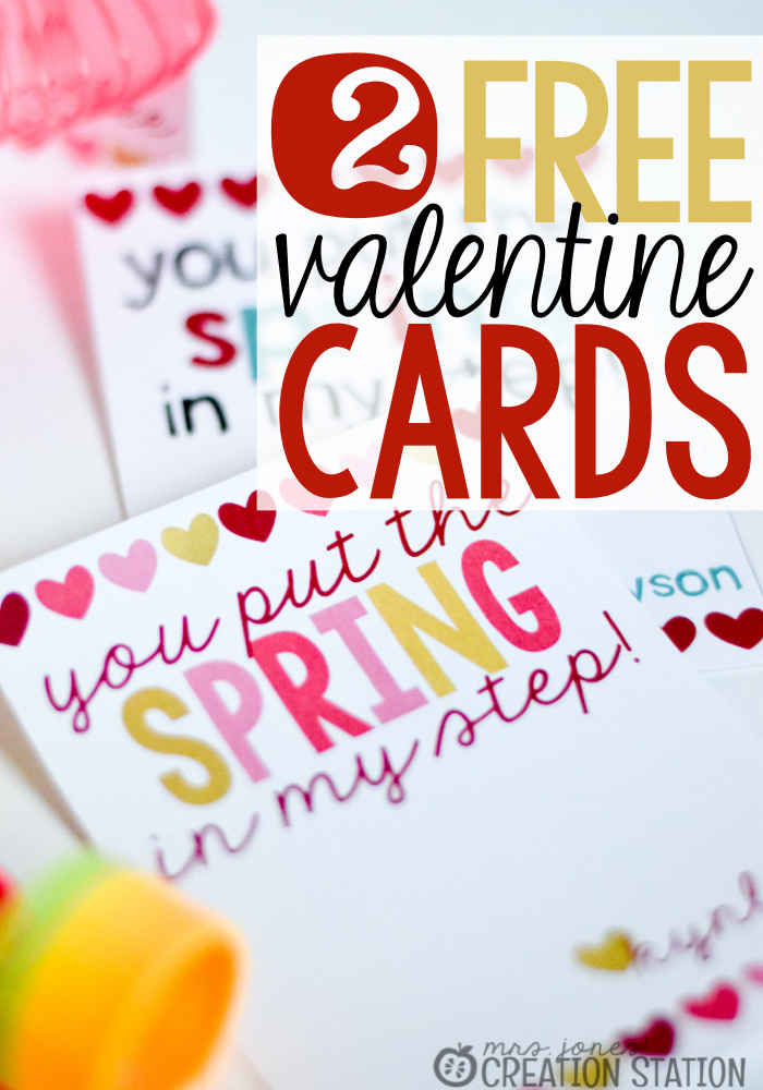 FREE Valentines Day Card Mrs Jones Creation Station – Free Valentine Card