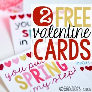 FREE Valentine Cards - Mrs. Jones' Creation Station