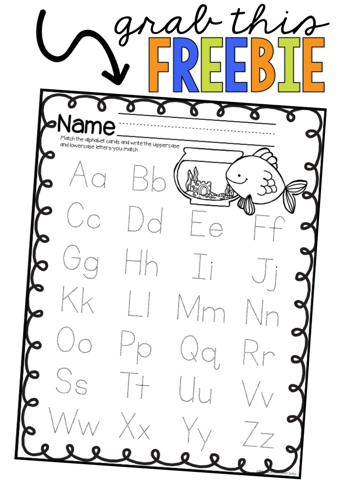 Alphabet Letter Identification Fishing for the Alphabet Game - FREE PRINTABLE INCLUDED - MJCS