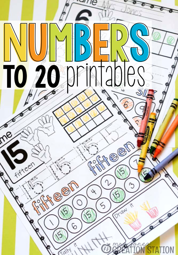 Numbers to 20 Printables - MJCS