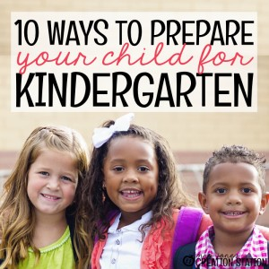 Preparing Your Child For Kindergarten