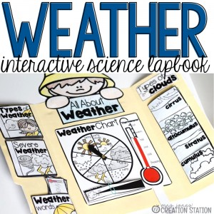 Interactive Science Lapbook for a Weather Unit