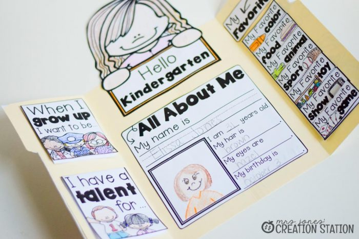 All About Me Lapbook from MJCS-2