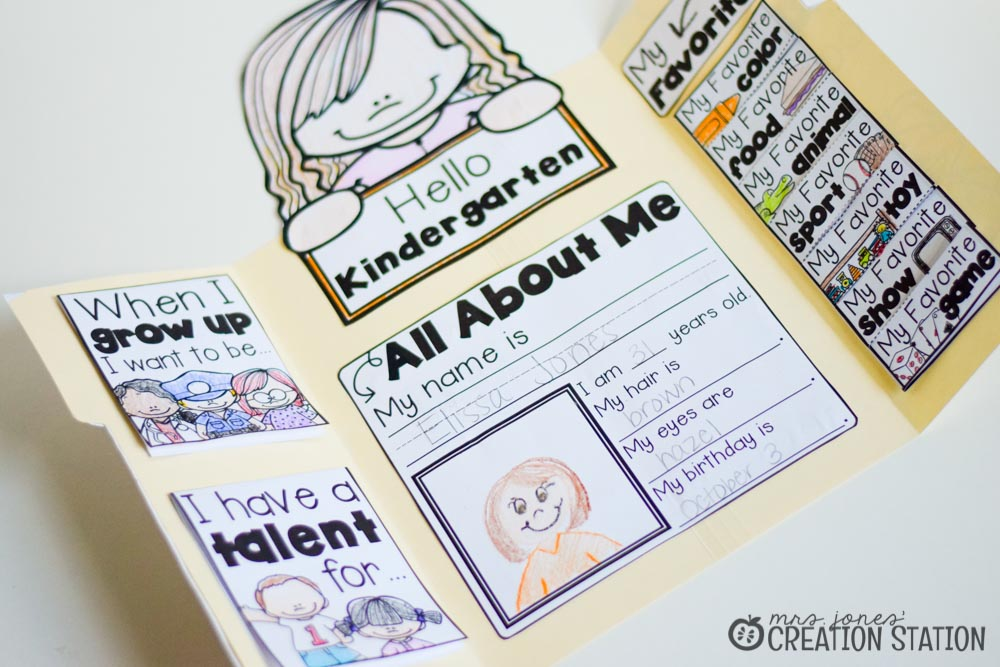 All About Me Activity Mrs Jones Creation Station
