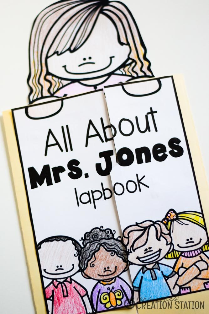 All About Me Lapbook from MJCS