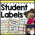 Student Labels for Classroom Organization
