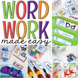 Easy Word Work Activities - MJCS