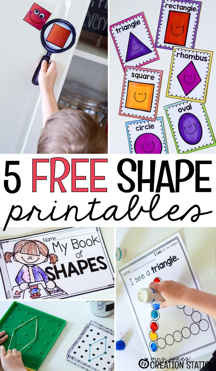 Free Shape Printables Mrs Jones Creation Station