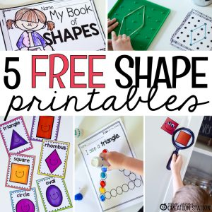 5 Free Shape Printables for PreK, Kindergarten or First Grade - MJCS