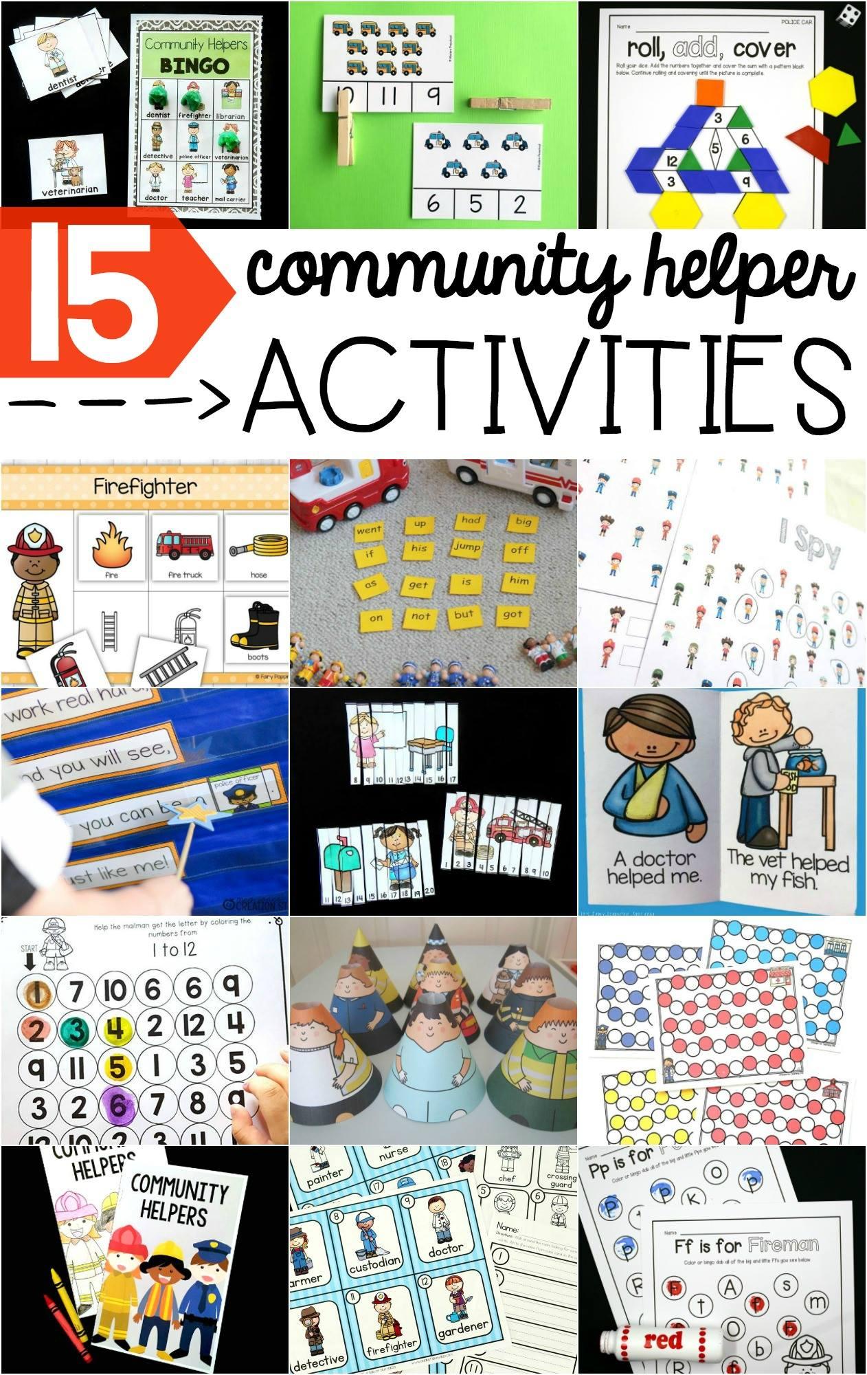 community helpers interactive poem mrs jones u0027 creation station