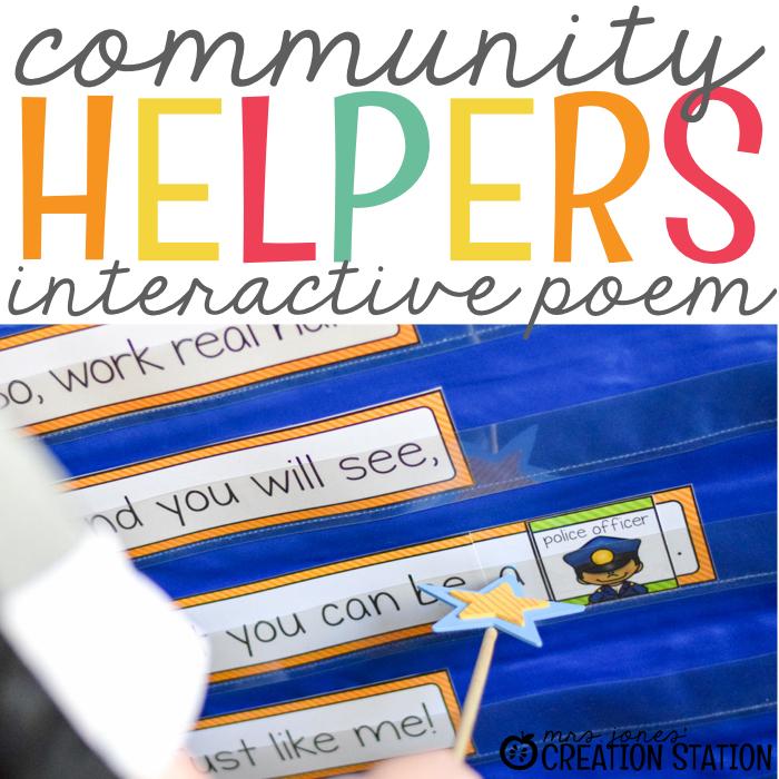 Community Helpers Poem Activity