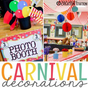 School Carnival Decorations with Oriental Trading