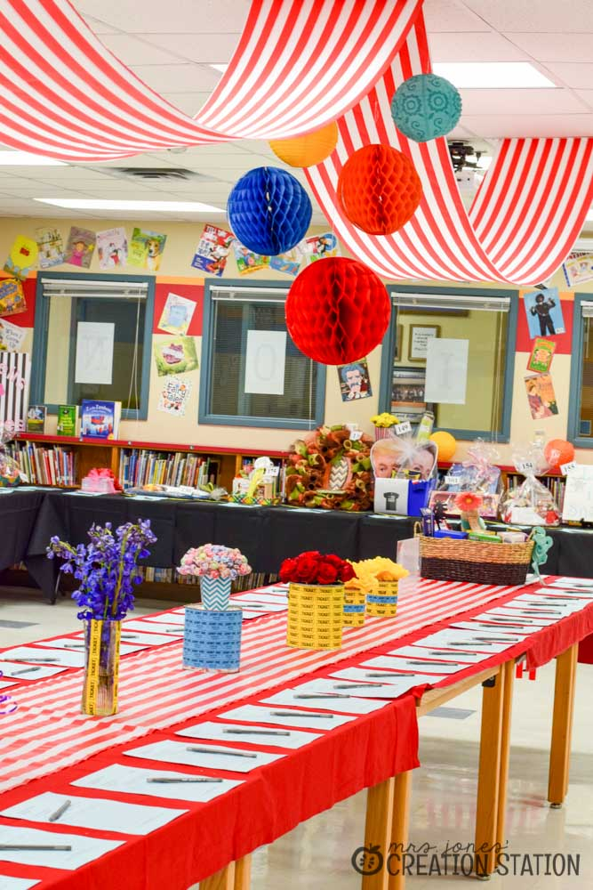 Classroom Decor For Valentines ~ School carnival decorations with oriental trading mrs