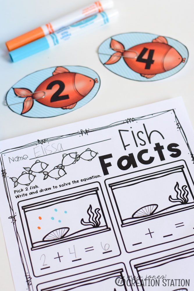 Fish Eyes Addition Math Game - MJCS