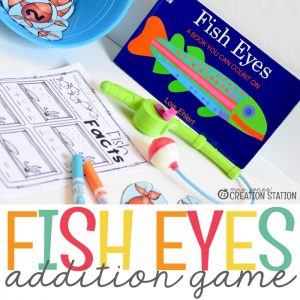 Fish Eyes Addition Math Game for Preschool and Kindergarten - MJCS
