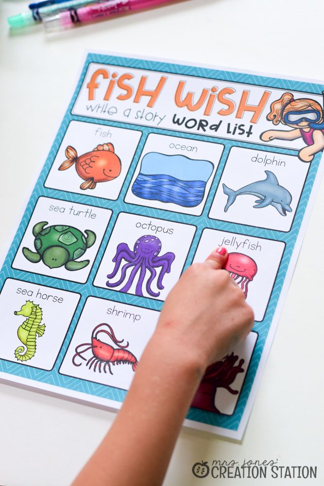 Fish Wish Ocean Theme Writing Activity