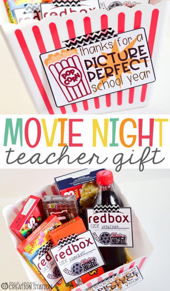 Movie Night Teacher Gift Mrs Jones Creation Station