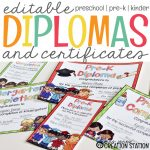 End Of The Year Graduation Diplomas and Certificates