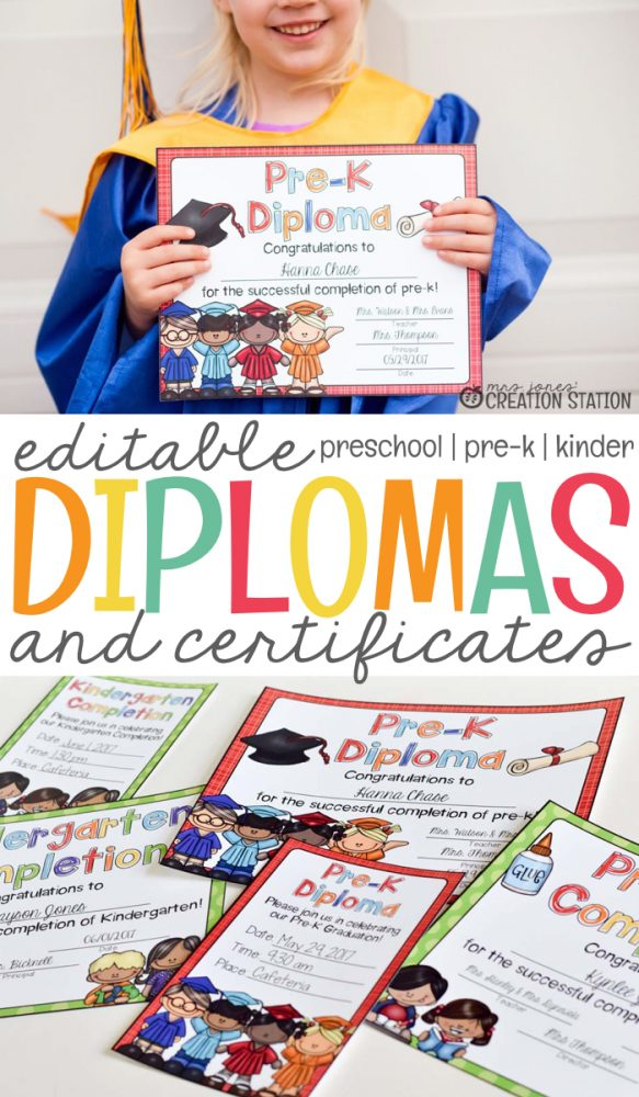 end of the year graduation diplomas and certificates mrs jones