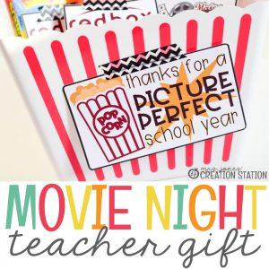 Movie Night Teacher Gift Idea