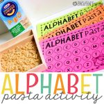 Pasta Alphabet Letter Matching