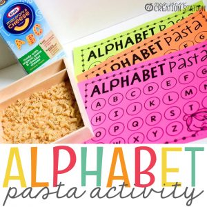 Alphabet Pasta Activity
