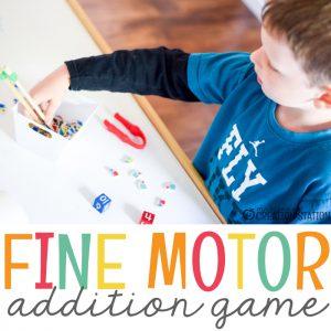 Fine Motor Activity Addition Math Game