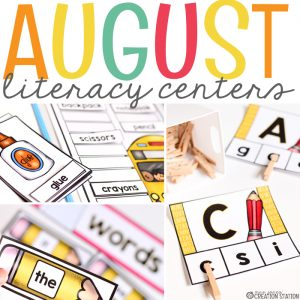 Literacy Centers for Kindergarten and First Grade