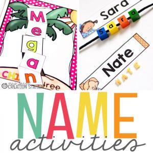 Name Activities for Preschool and Kindergarten