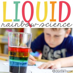 Liquid Rainbow Science Experiment