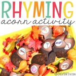 Rhyming Acorns Fall Literacy Activity