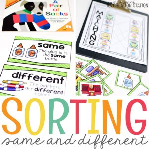 Same and Different Sorting Activities