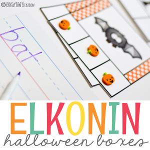 Halloween Elkonin Boxes
