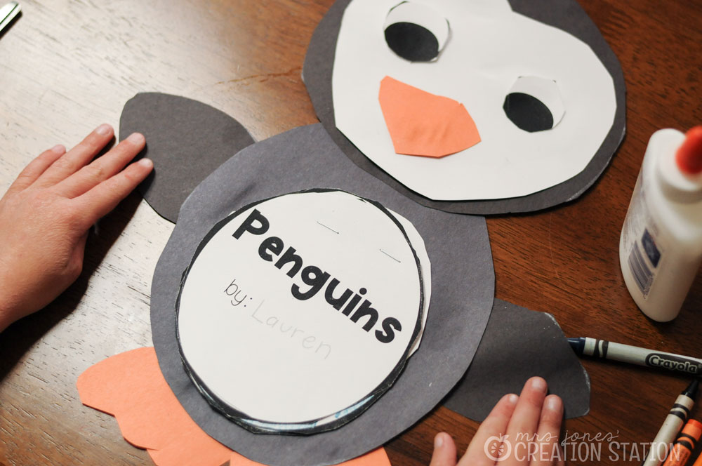 Free Penguin Fact Book Penguin Craft- Mrs. Jones Creation Station